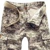 Military Style Straight Leg Multi-Pocket Zipper Fly Camo Cargo Shorts For Men deal