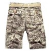 cheap Military Style Straight Leg Multi-Pocket Zipper Fly Camo Cargo Shorts For Men