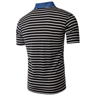 Turn Down Collar Stripe Short Sleeves T-Shirt For MenMens Short Sleeve Tees<br>Turn Down Collar Stripe Short Sleeves T-Shirt For Men<br><br>Material: Cotton Blends<br>Sleeve Length: Short<br>Collar: Turn-down Collar<br>Style: Casual<br>Weight: 0.164KG<br>Package Contents: 1 x T-Shirt<br>Pattern Type: Striped