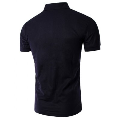 Turn Down Collar Solid Color Number Printed Short Sleeves T-Shirt For MenMens Short Sleeve Tees<br>Turn Down Collar Solid Color Number Printed Short Sleeves T-Shirt For Men<br><br>Material: Cotton Blends<br>Sleeve Length: Short<br>Collar: Turn-down Collar<br>Style: Casual<br>Weight: 0.197KG<br>Package Contents: 1 x T-Shirt<br>Pattern Type: Solid