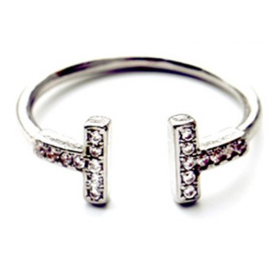 Retro Rhinestoned T Shape Cuff Ring For WomenRings<br>Retro Rhinestoned T Shape Cuff Ring For Women<br><br>Gender: For Women<br>Material: Rhinestone<br>Metal Type: Alloy<br>Style: Trendy<br>Shape/Pattern: Letter<br>Diameter: 1.7CM<br>Weight: 0.030KG<br>Package Contents: 1 x Ring