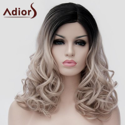 Trendy Black Ombre Ash Blonde Long Synthetic Shaggy Wavy Capless Universal Wig For Women