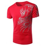 Round Neck Chinese Style Printing Short Sleeve Men's T-Shirt