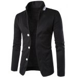 Stereo Pocket Color Block Lapel Long Sleeves Single-Breasted Blazer For Men