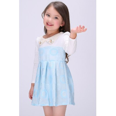 Cute Peter Pan Collar Long Sleeve A-Line Girls DressGirls Clothing<br>Cute Peter Pan Collar Long Sleeve A-Line Girls Dress<br><br>Style: Cute<br>Material: Polyester<br>Silhouette: Ball Gown<br>Dresses Length: Mini<br>Neckline: Peter Pan Collar<br>Sleeve Length: Long Sleeves<br>Pattern Type: Patchwork<br>With Belt: No<br>Season: Fall,Spring<br>Weight: 0.420KG<br>Package Contents: 1 x Dress