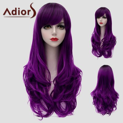 Long Side Bang Fluffy Wavy Synthetic Universal Wig