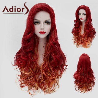 Adiors Jacinth Ombre Orange Long Fluffy Wavy Synthetic Wig
