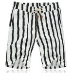 Lace Up Loose Stripe Fifth Pants Beach Shorts For Men
