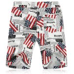 cheap Lace Up Fifth Pants Beach American Flag Shorts