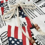 Lace Up Fifth Pants Beach American Flag Shorts deal