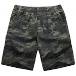 Buy Loose-Fitting Lace-Up Camouflage Pocket Design Straight Leg Shorts Men 2XL