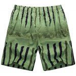 Buy Loose-Fitting Lace-Up Ombre Letter Print Crack Design Straight Leg Shorts Men 2XL