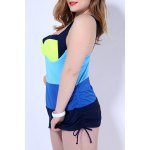 Simple Color Block Push Up One Piece Swimsuit For Women for sale