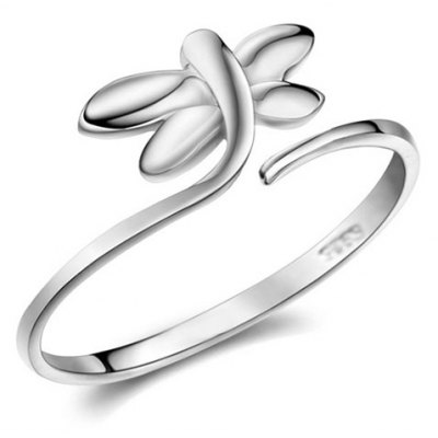 Graceful Solid Color Dragonfly Cuff Ring For Women