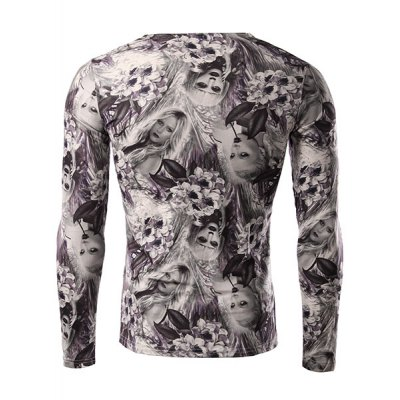 Flower and Beauty Pattern Slimming V-Neck Long Sleeves 3D Printed T-Shirt For MenMens Long Sleeves Tees<br>Flower and Beauty Pattern Slimming V-Neck Long Sleeves 3D Printed T-Shirt For Men<br><br>Material: Polyester,Spandex<br>Sleeve Length: Full<br>Collar: V-Neck<br>Style: Fashion<br>Embellishment: 3D Print<br>Pattern Type: Figure<br>Season: Fall,Spring<br>Weight: 0.190KG<br>Package Contents: 1 x T-Shirt