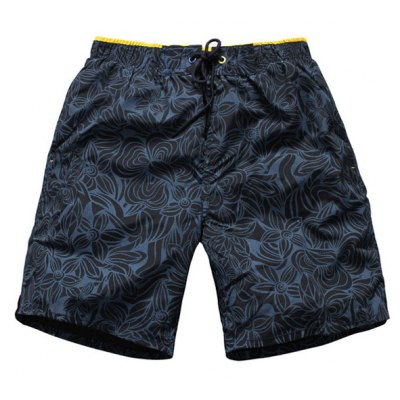 Straight Leg Drawstring Floral Board Shorts
