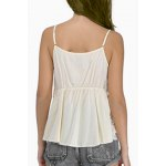 Sweet Daisy Lace Design Spaghetti Strap Chiffon Tank Top For Women deal