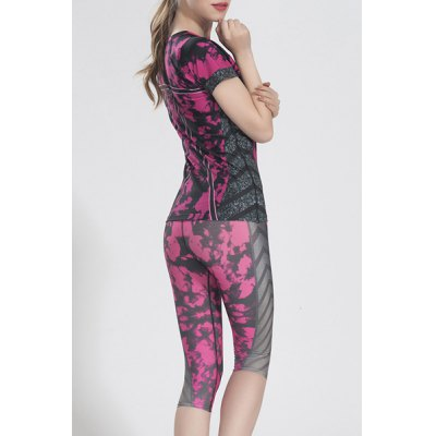Active Scoop Neck Floral Print Short Sleeve T-Shirt and Pants Twinset For WomenYoga<br>Active Scoop Neck Floral Print Short Sleeve T-Shirt and Pants Twinset For Women<br><br>Material: Nylon<br>Clothing Length: Regular<br>Sleeve Length: Short<br>Pattern Style: Floral<br>Weight: 0.620KG<br>Package Contents: 1 x T-Shirt  1 x Pants