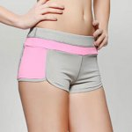 Active Color Block High Stretchy Gym Stretchy Shorts for Women