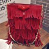 Stylish Fringe and PU Leather Design Shoulder Bag For Women deal