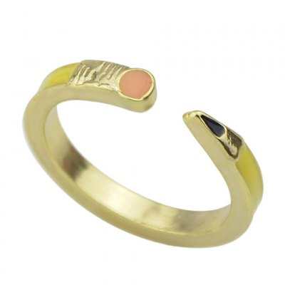 Stylish Simple Style Pencil Shape Cuff Ring For WomenRings<br>Stylish Simple Style Pencil Shape Cuff Ring For Women<br><br>Gender: For Women<br>Metal Type: Alloy<br>Style: Trendy<br>Shape/Pattern: Others<br>Diameter: 1.8CM<br>Weight: 0.040KG<br>Package Contents: 1 x Ring