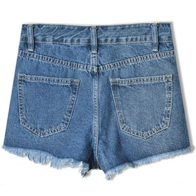 Trendy Embroideried Broken Hole Macrame Denim Women's Ripped Shorts от GearBest.com INT