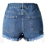 Trendy Embroideried Broken Hole Macrame Denim Women's Ripped Shorts deal