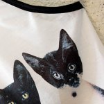 Cute Spaghetti Strap Cats Print Lace-Up Tank Top For Women for sale