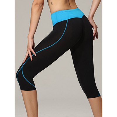 Active Elastic Waist Bodycon Color Block Womens Cropped Yoga PantsYoga<br>Active Elastic Waist Bodycon Color Block Womens Cropped Yoga Pants<br><br>Style: Active<br>Length: Capri<br>Material: Polyester<br>Fit Type: Skinny<br>Waist Type: High<br>Closure Type: Elastic Waist<br>Pattern Type: Patchwork<br>Pant Style: Pencil Pants<br>Weight: 0.150KG<br>Package Contents: 1 x Cropped Yoga Pants