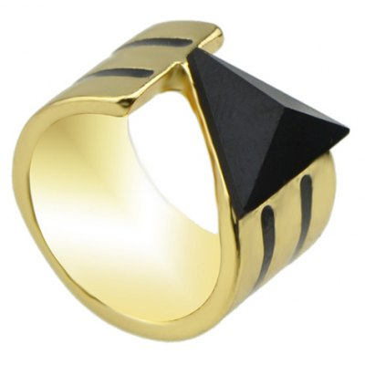 Chic Faux Gemstone Triangle Chunky Ring For Women