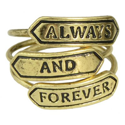 A Suit of Vintage Letter Carving Rings