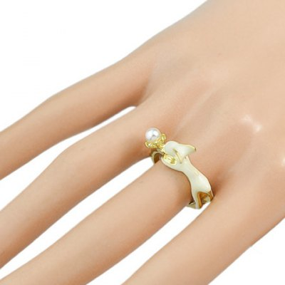Delicate Faux Pearl Rabbit Ring For WomenRings<br>Delicate Faux Pearl Rabbit Ring For Women<br><br>Gender: For Women<br>Material: Pearl<br>Metal Type: Alloy<br>Style: Trendy<br>Shape/Pattern: Animal<br>Diameter: 1.6CM<br>Weight: 0.040KG<br>Package Contents: 1 x Ring