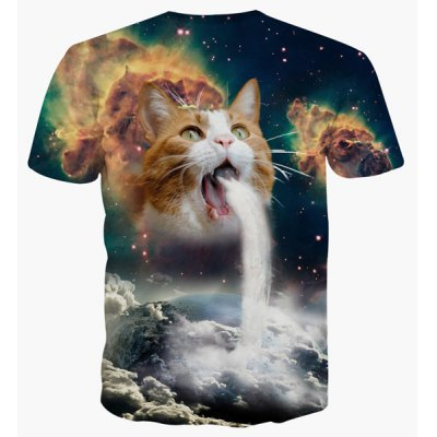 Round Neck 3D Cat Abstract Print Short Sleeve T-Shirt For MenMens Short Sleeve Tees<br>Round Neck 3D Cat Abstract Print Short Sleeve T-Shirt For Men<br><br>Material: Cotton,Polyester<br>Sleeve Length: Short<br>Collar: Round Neck<br>Style: Fashion<br>Weight: 0.320KG<br>Package Contents: 1 x T-Shirt<br>Pattern Type: Animal