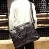 Stylish Crocodile Print and Zips Design Briefcase For Men deal