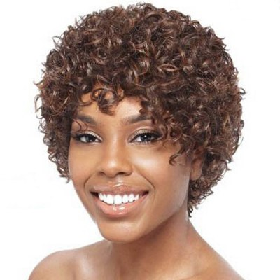 Towheaded Afro Curly Fashion Short Dark Brown Heat Resistant Fiber Wig For WomenSynthetic Hair Wigs<br>Towheaded Afro Curly Fashion Short Dark Brown Heat Resistant Fiber Wig For Women<br><br>Type: Full Wigs<br>Cap Construction: Capless<br>Style: Curly<br>Material: Synthetic Hair<br>Bang Type: Side<br>Length: Short<br>Length Size(CM): 6<br>Weight: 0.200KG<br>Package Contents: 1 x Wig