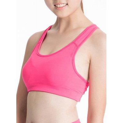 Stylish U-Neck Racerback Fitted Womens Sports BraYoga<br>Stylish U-Neck Racerback Fitted Womens Sports Bra<br><br>Materials: Polyester<br>Bra Style: Padded<br>Cup Shape: Full Cup<br>Support Type: Wire Free<br>Strap Type: Non-Convertible Straps<br>Closure Style: None<br>Pattern Type: Solid<br>Embellishment: None<br>Weight: 0.130KG<br>Package Contents: 1 x Sports Bra