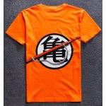 cheap Round Neck 3D Chinese Character Print Short Sleeve T-Shirt For Men