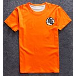 Round Neck 3D Chinese Character Print Short Sleeve T-Shirt For Men