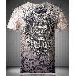 Casaul Pullover V-Neck Printed Short Sleeves T-Shirt For Men deal