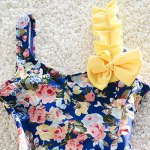 Sweet Spaghetti Strap Floral Print Girl's One-Piece Swimsuit deal