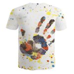 cheap Round Neck Palm Pattern Letters Print  Short Sleeve Men's T-Shirt