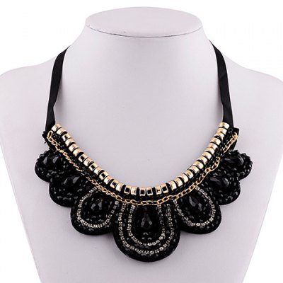 Graceful Exaggerated Rhinestone Fake Collar Necklace For Women