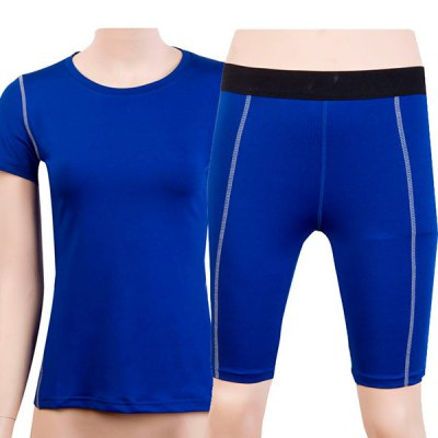 Stylish Short Sleeves Fitted Quick-Dry Womens Activewear SuitYoga<br>Stylish Short Sleeves Fitted Quick-Dry Womens Activewear Suit<br><br>Material: Polyester<br>Clothing Length: Regular<br>Sleeve Length: Short<br>Pattern Style: Solid<br>Weight: 0.260KG<br>Package Contents: 1 x T-Shirt  1 x Shorts