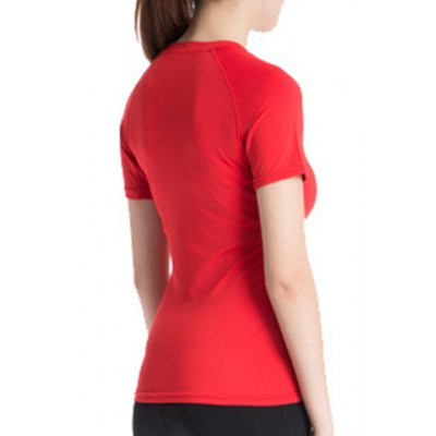 Simple Round Neck Short Sleeves Fitted Womens T-ShirtYoga<br>Simple Round Neck Short Sleeves Fitted Womens T-Shirt<br><br>Material: Polyester<br>Clothing Length: Regular<br>Sleeve Length: Short<br>Collar: Round Neck<br>Pattern Type: Solid<br>Weight: 0.370KG<br>Package Contents: 1 x T-Shirt