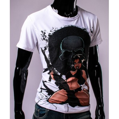 3D Bikini Girl and Skull Print Round Neck Short Sleeve T-Shirt For MenMens Short Sleeve Tees<br>3D Bikini Girl and Skull Print Round Neck Short Sleeve T-Shirt For Men<br><br>Material: Cotton,Polyester<br>Sleeve Length: Short<br>Collar: Round Neck<br>Style: Fashion<br>Weight: 0.350kg<br>Package Contents: 1 x T-Shirt<br>Pattern Type: Skulls