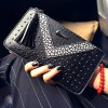 Fashionable Rivets and Colour Block Design Wallet For Women