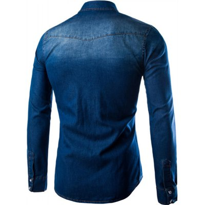 Simple Turn-Down Collar Patch Pocket Long Sleeve Mens Denim ShirtMens Shirts<br>Simple Turn-Down Collar Patch Pocket Long Sleeve Mens Denim Shirt<br><br>Shirts Type: Casual Shirts<br>Material: Cotton,Jeans<br>Sleeve Length: Full<br>Collar: Turn-down Collar<br>Weight: 0.550KG<br>Package Contents: 1 x Shirt