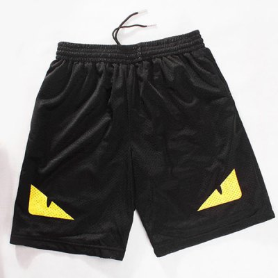 Straight Leg Breathable Eyes Pattern Drawstring Men's Board Shorts