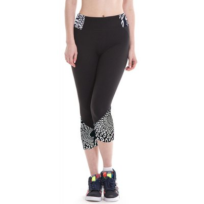 Chic Elastic Waist Color Block Skinny Womens Cropped Yoga PantsYoga<br>Chic Elastic Waist Color Block Skinny Womens Cropped Yoga Pants<br><br>Style: Active<br>Length: Capri<br>Material: Polyester<br>Fit Type: Skinny<br>Waist Type: High<br>Closure Type: Elastic Waist<br>Pattern Type: Print<br>Pant Style: Pencil Pants<br>Weight: 0.320KG<br>Package Contents: 1 x Pants