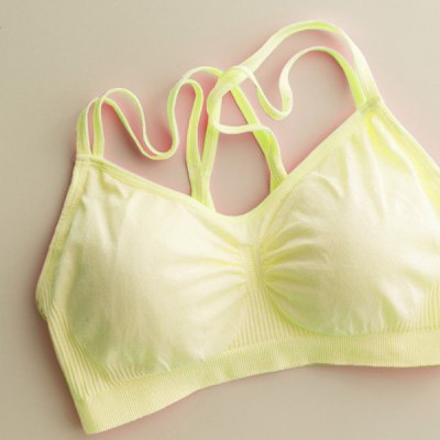 Sexy Strappy Backless Criss-Cross Solid Color Seam Free Sports Bra For Women